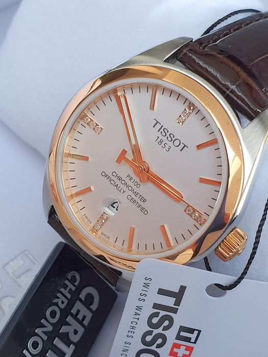 Tissot -  Tissot T-Classic PR 100 Rose Gold and stainless steel chronometer Certified - Damen - 2019