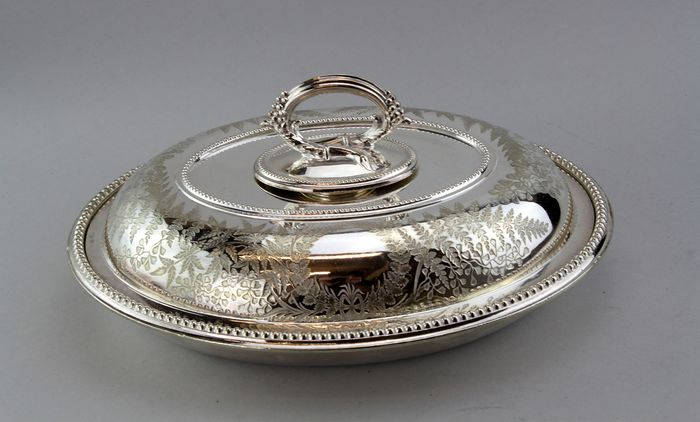 Victorian Serving Dish with lid - Silverplate - James Dixon & Sons - U.K. - 1880's