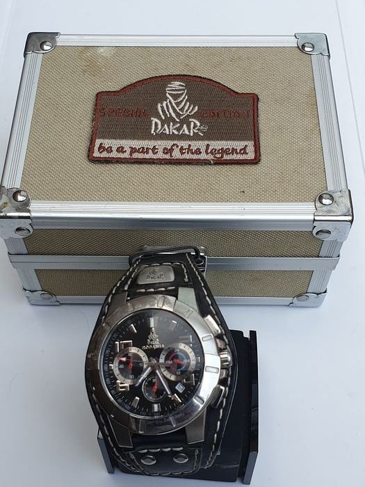 Montre - Rodania Dakar Chronograph special edition motorsport  in orginele Dakar kist - 2001