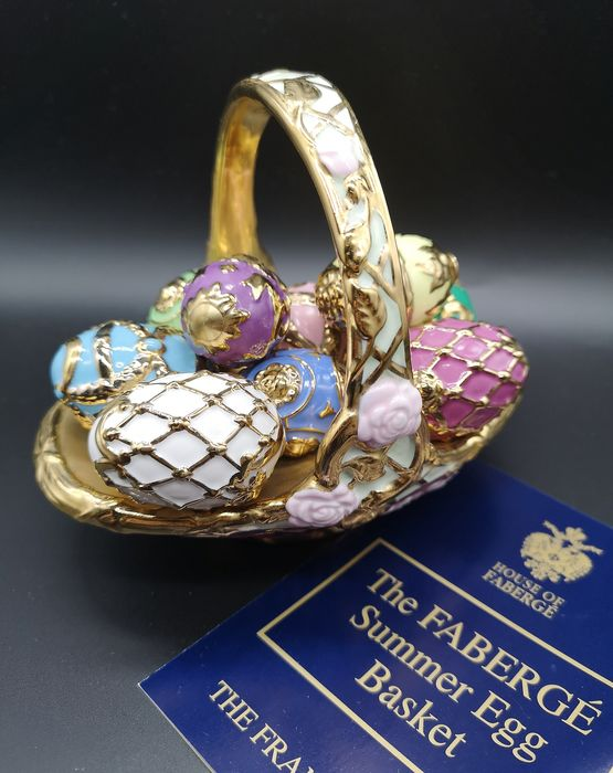 House of Fabergé Summer Egg Basket - Porcelain