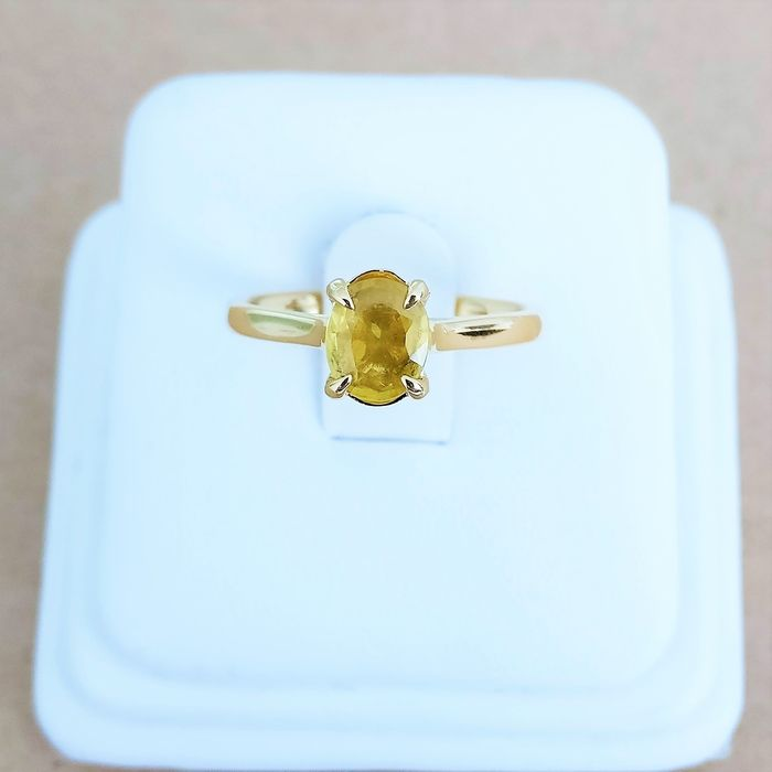 18 kt. Yellow gold - Ring - 0.82 ct Sapphire