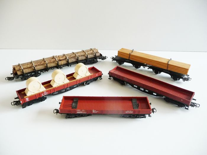 Märklin H0 - 4665/47711 - Freight carriage - 5x 4-axle freight wagons