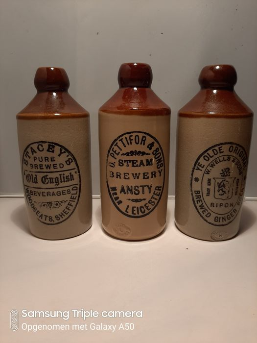 Pearsons of Chesterfield - Inglese antico bottiglie di birra (3) - Terracotta