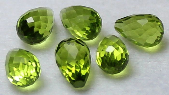 6 pcs  Péridot - 8.44 ct