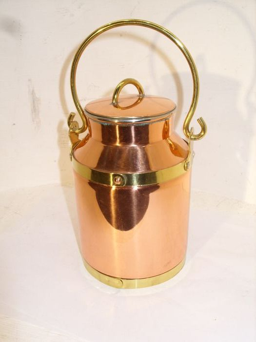 Milk canister - Copper and yellow copper