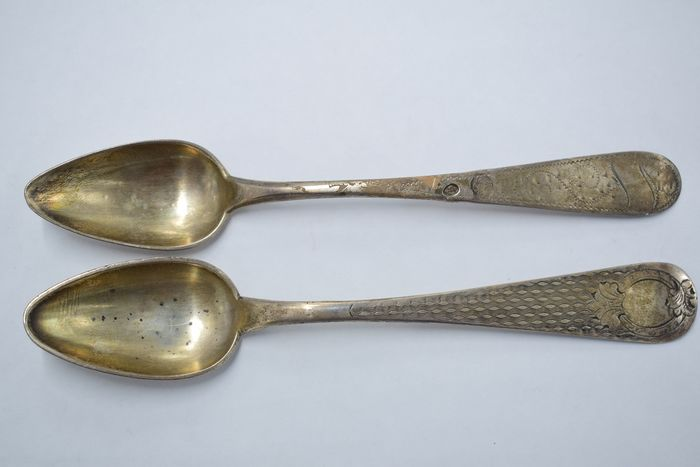 Spoon, ottoman (2) - .900 silver - Turkey - Late 19th century