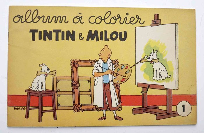 Tintin Album A Colorier Numero 1 B First Edition 1955