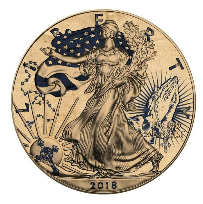 United States - 1 Dollar 2018 - Liberty American Traditional TATTOO Only God Can Judge Me - 1 Oz - Silver