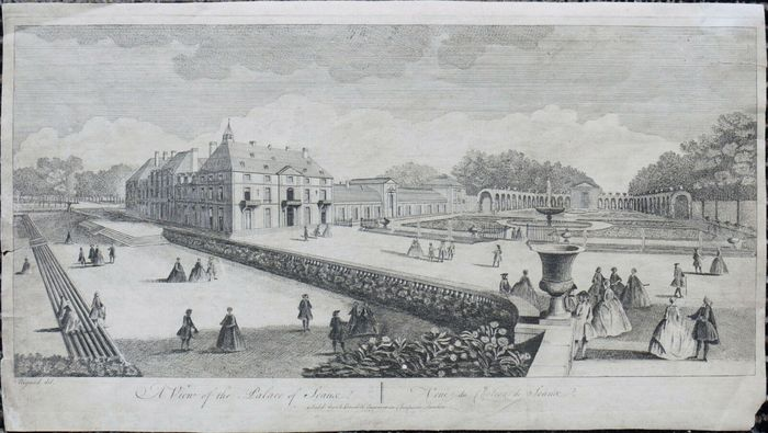 Francia, Paris; J. Beydell - A View of the Palace of Seaux - 1781-1800