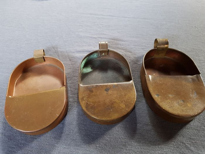 cents trays (3) - Copper, burnished