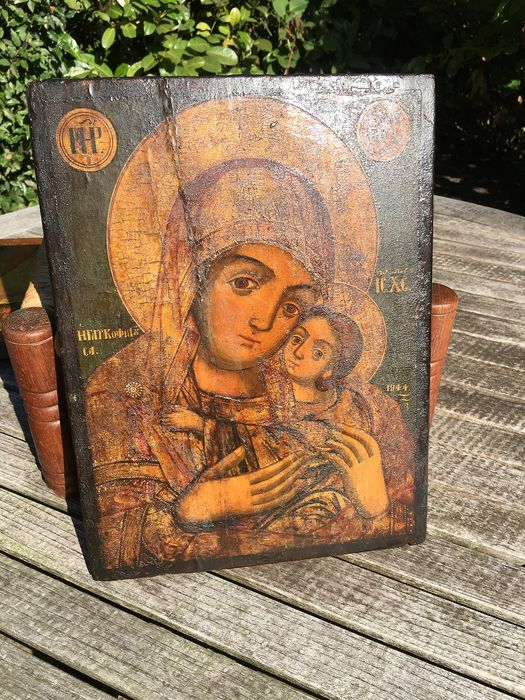 Icon, Mother of God or Korsun (1) - Wood - Late 18th century