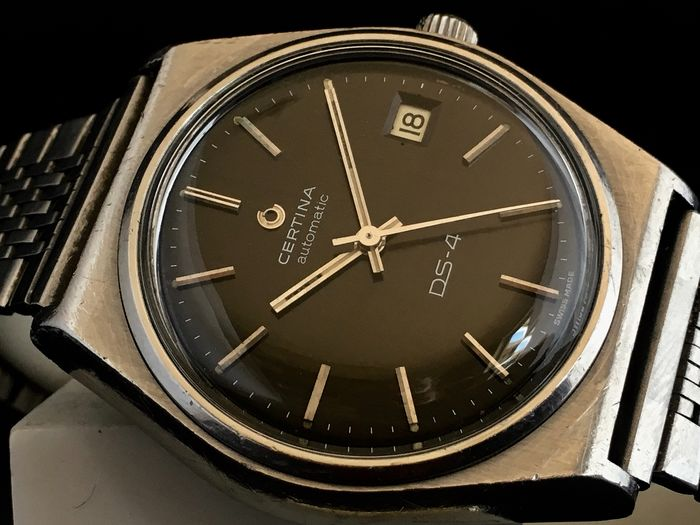 Certina - Black DS-4 Automatic - Turtle Back - Homme - 1970-1979