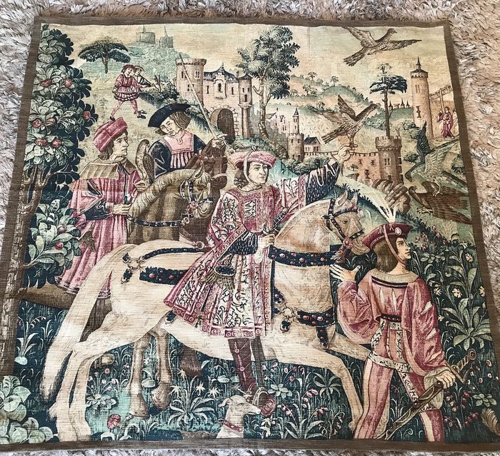 La chasse, Ancienne  - Beautiful tapestry - Cotton