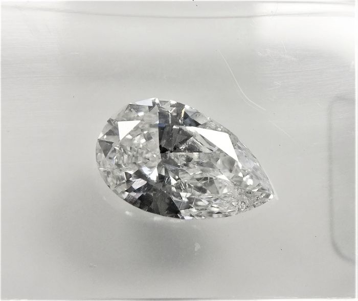 1 pcs Diamante - 0.98 ct - Pera - D (incolore) - SI1