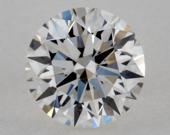 Diamond - 0.60 ct - Brilliant, Round, Free Shipping - H, 3X - IF (flawless), LC (loupe clean)