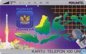 Satellite and map of Indonesia