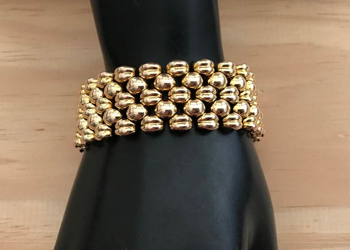 Gold-plated punched - Bracelet