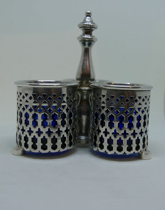 Condiment set - .833 silver, silver - Portugal - Early 20th century