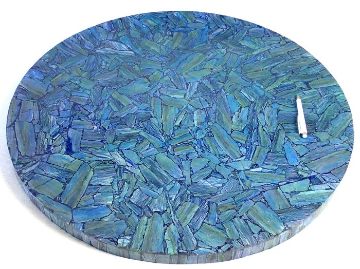 Museu Piece Natural Azurite tabletop - 840×840×840 mm - 22.071 kg