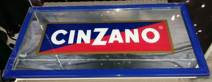 Cinzano advertising table illuminated with neon (1) - Art Deco - Glass