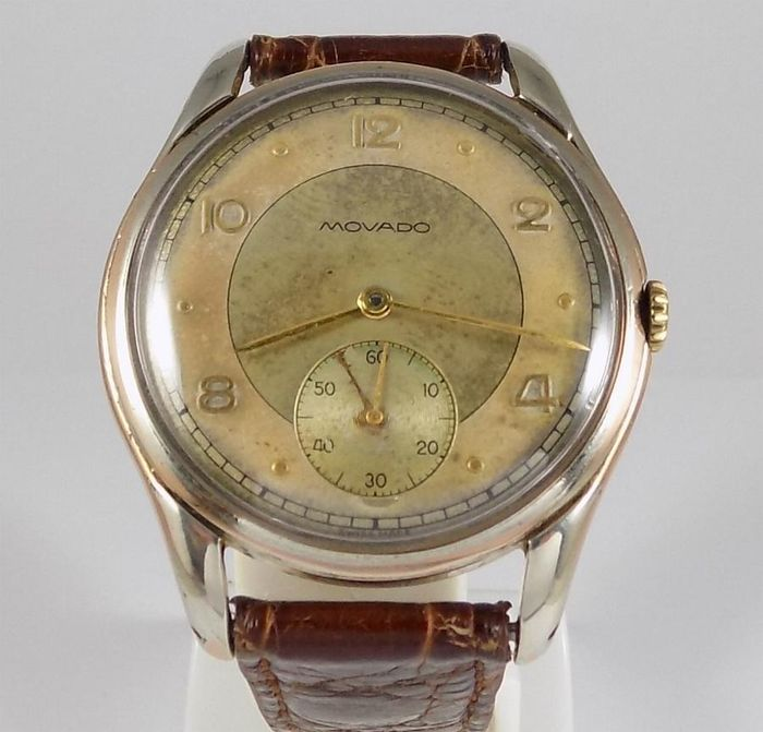 "Movado - Calibre 125 - Two Tone - ""NO RESERVE PRICE""  - Herren - 1950's"