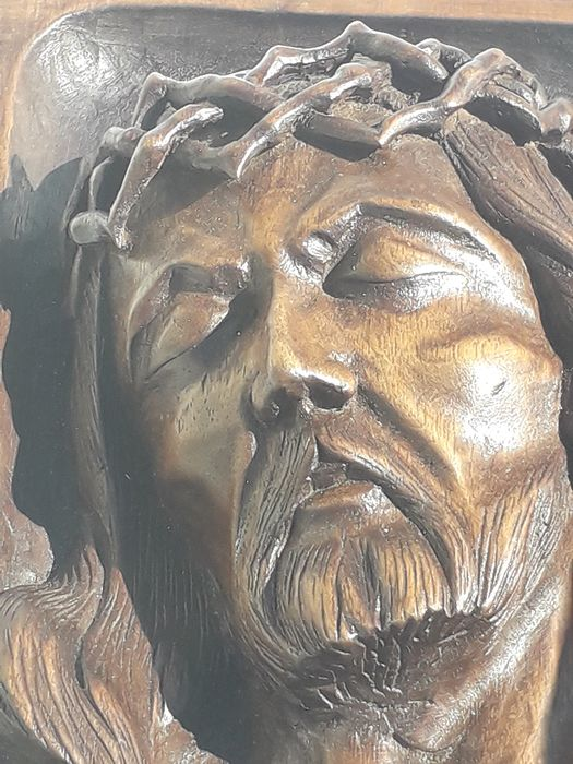 French Carving of Jesus Signed Marly - Wood