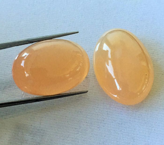 2 pcs Orange moonstone - 50.85 ct