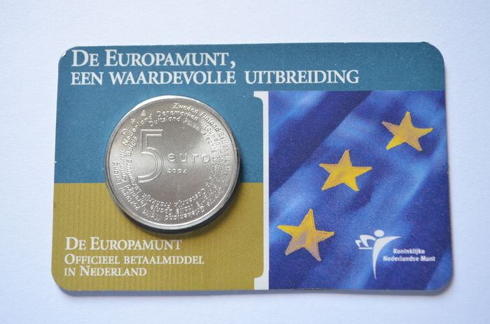 """The Netherlands - 5 Euro 2004 """"Europamunt"""" in coincard - Silver"""