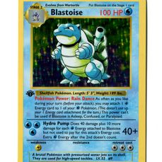 Pokémon - Shadowless 1st edition Blastoise 2/102 Base set Holo - 1999