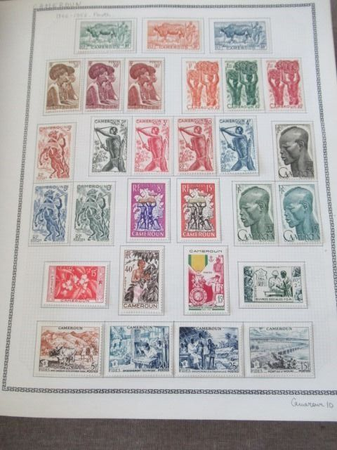 Old French colonies 1916/1963 - Cameroon - Virtually complete collection of stamps