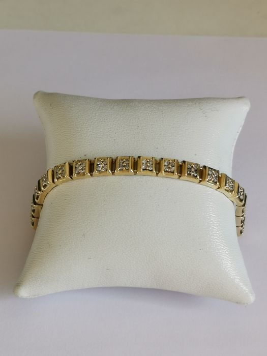 18 quilates Oro amarillo - Brazalete, río - 1,68 ct Diamante