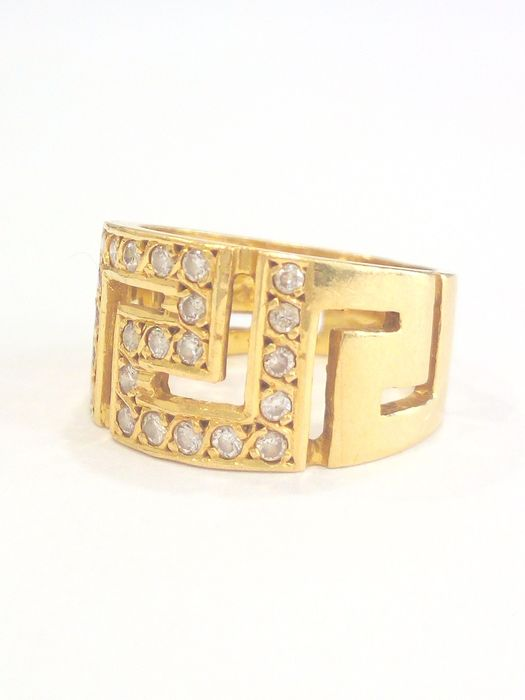 18 carats Or jaune - Bague - Diamants