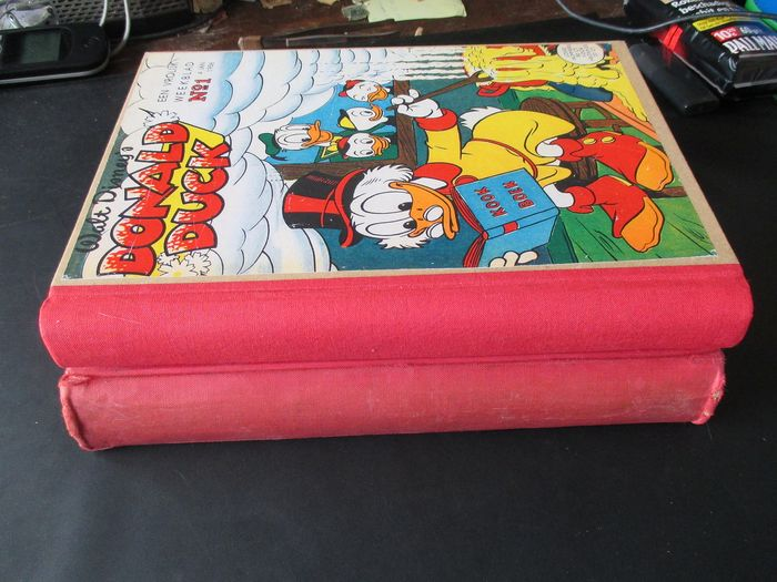 Donald Duck 1 t/m 52 - Compleet jaargang in vier Particuliere bundels. - Hardcover - First edition - (1958)