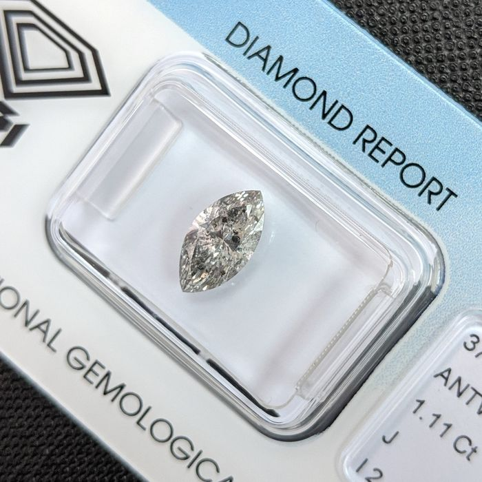 Diamond - 1.11 ct - Μαρκησία - J - I2, IGI Antwerp - No Reserve Price