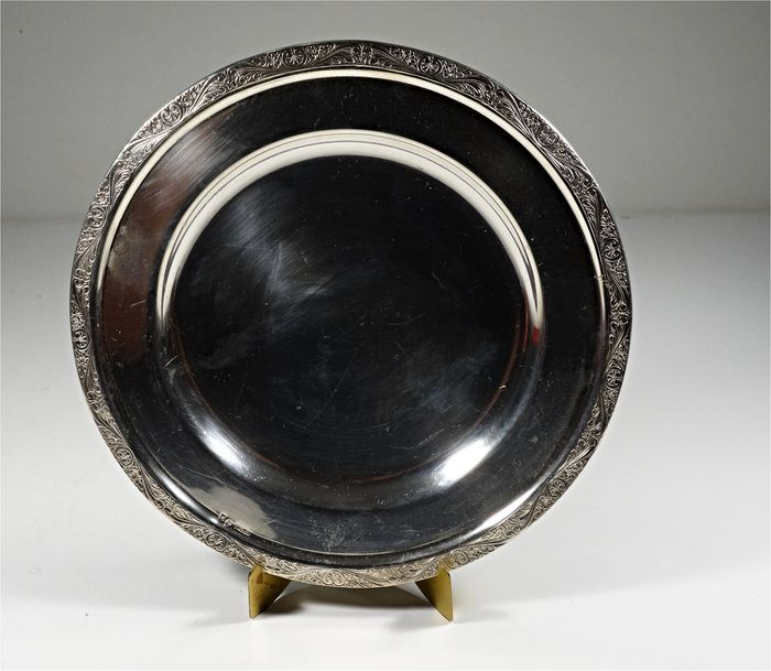 A silver dish or tray for wedding rings - Portugal - circa 1940 - 835 Silver     - Portugal - 20th century