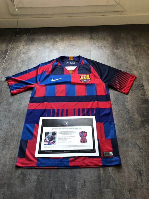 new concept 79cad 12294 FC Barcelona - Spanish Football League - Lionel Messi - 2018 - 20th Nike  Anniversary Shirt - Catawiki