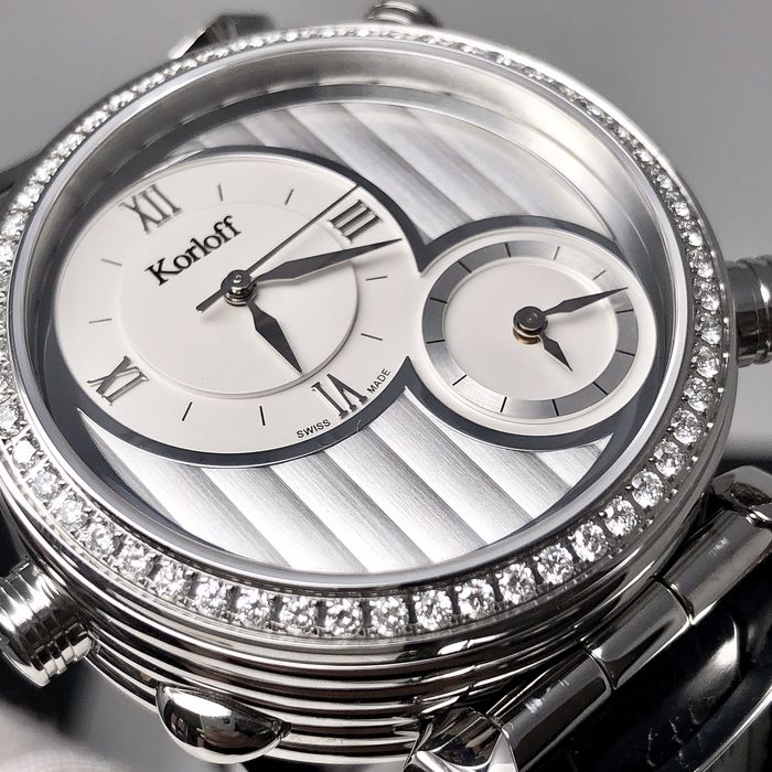 Korloff - Diamonds Reversible Watch Highway Voyager 1.40 ct - CR3BSD - Men - BRAND NEW