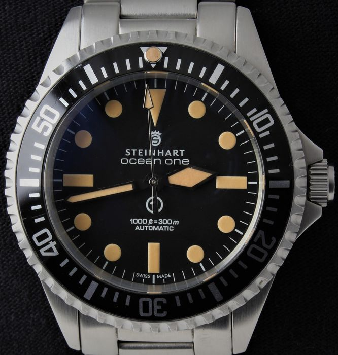 Steinhart - OCEAN ONE MILITARY VINTAGE - Swiss Automatic ETA - Ref. No: 103-0658 - Excellent - Rest Warranty - Men - 2018