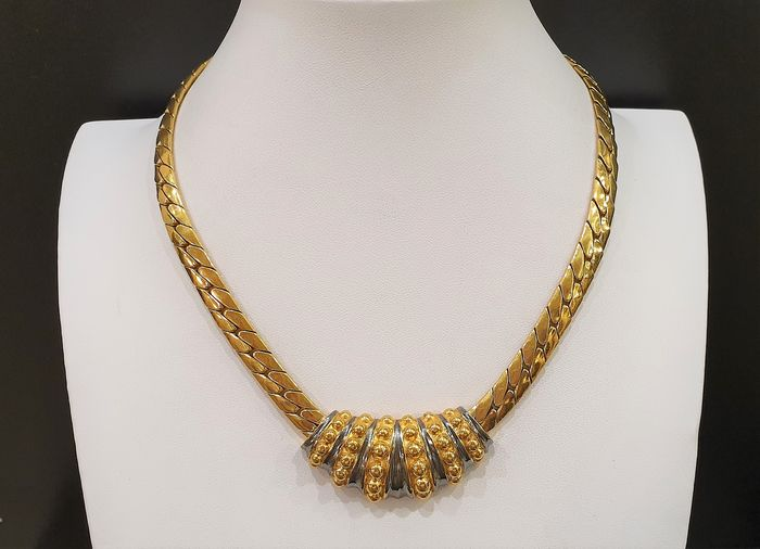 LANVIN 18kt gold plated - two toned Moghul Necklace