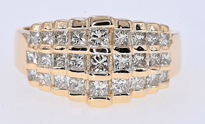 14 kt. Yellow gold - Ring - 1.56 ct Diamond