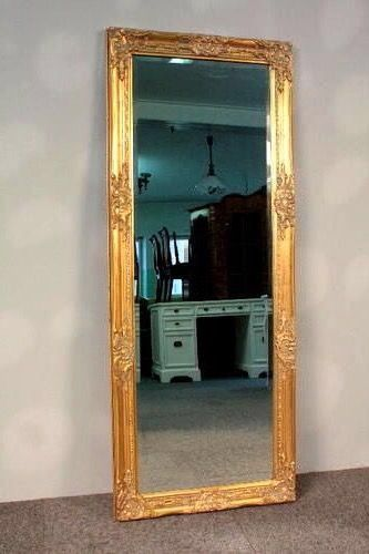 Wall mirror - Beautiful crystal very large - Baroque - Gilt, Glass, Wood