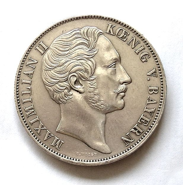 Germany - Bavaria - Doppio gulden  1855 - Silver