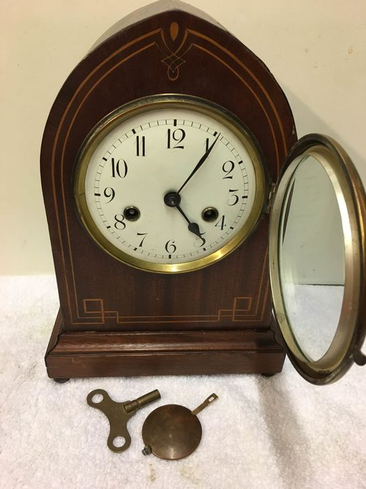 Clock - Wood- Mahogany