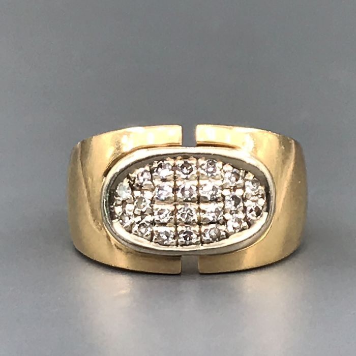 18 kt. Yellow gold - Ring - 0.44 ct Diamond