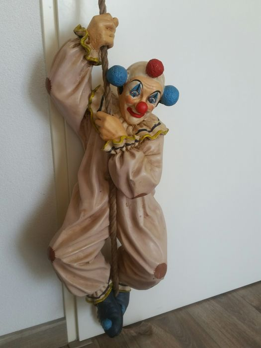Signed Jun Asilo Clown 1996 - Polyresin
