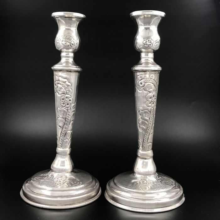 Candelabrum (2) - .935 silver - possibly Middle East - First half 20th century