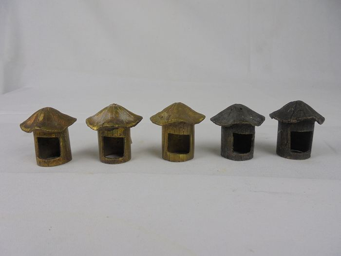 Gold dust gold weights (5) - Bronze - AKAN-ASHANTI - Ghana