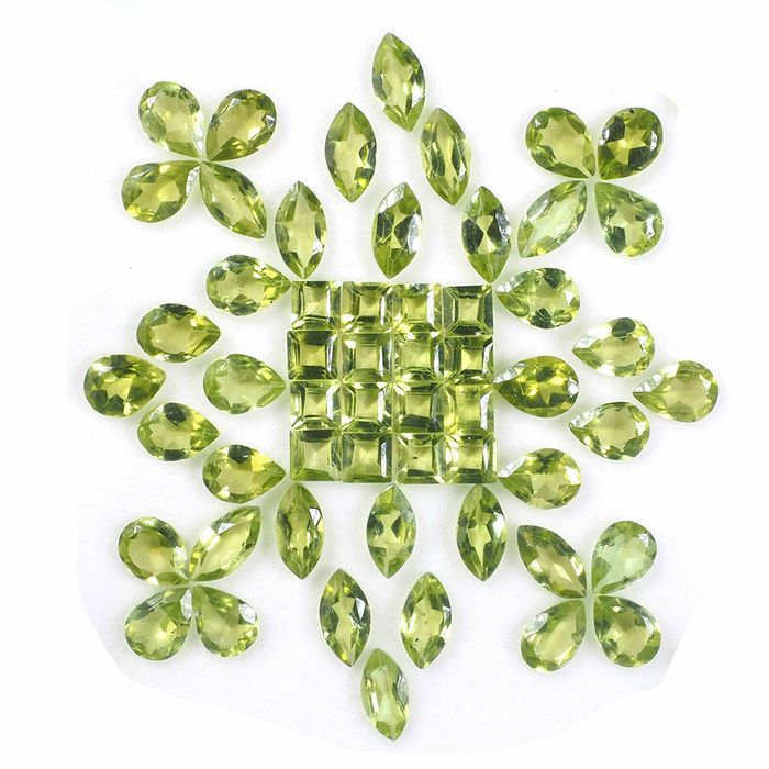 84 pcs  Peridot - 40.00 ct