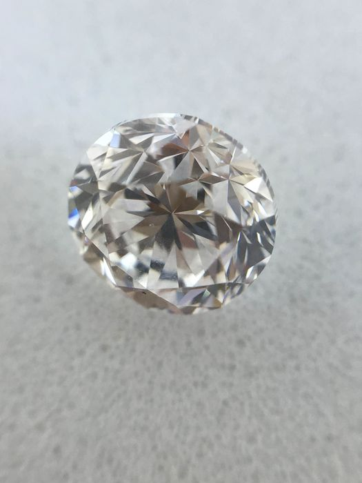 1 pcs Diamante - 0.40 ct - Brillante - D (incoloro) - VS2