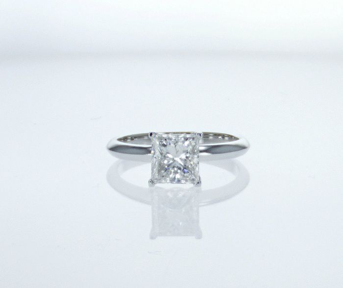 18 karaat Goud - Ring - Helderheid versterkt 1.55 ct Diamant